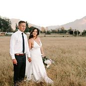 Sarah Crouter Photography photo of bride and groom in Skagit County farm field at sunset