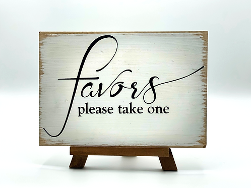 Shabby Chic Favors Sign