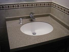 quartz top - under mount basin
