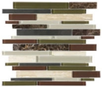 lineal glass - stone mix