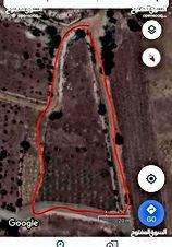 ارض للبيع في عبين عجلون (عميدات السمرا)  مساحة الارض 3دونم ونص