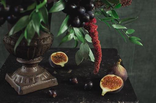 Dark fruit study part 3 #protea #roses #