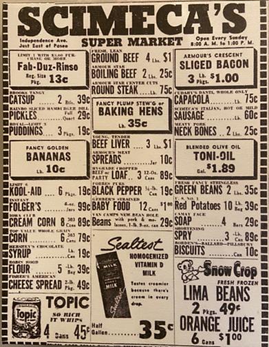 Scimeca's Ad 1954