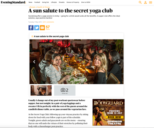 Evening standard, a sun salute to secret
