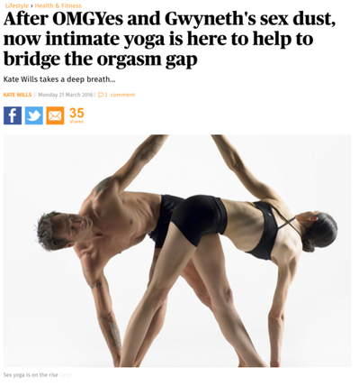 Evening Standard, Sex Yoga – March 2016.