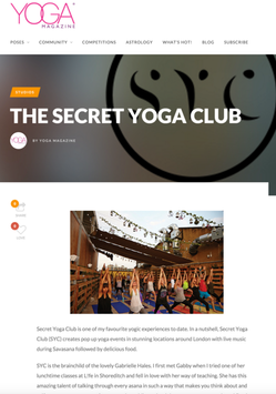 Yoga Magazine, Secret Yoga Club – Novemb