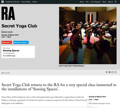 It's Rude to stare, Secret Yoga Club - N