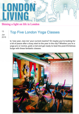 London Living, Top Five Yoga Classes – J