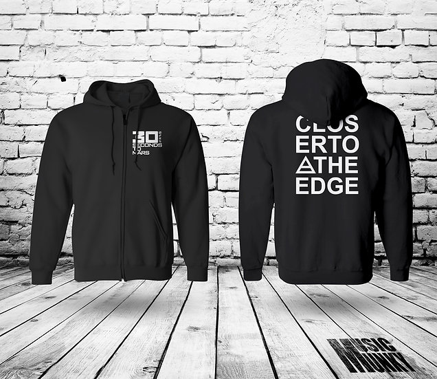30 SECONDS TO MARS - CLOSER TO THE EDGE - UNISEX ZIP HOODIE
