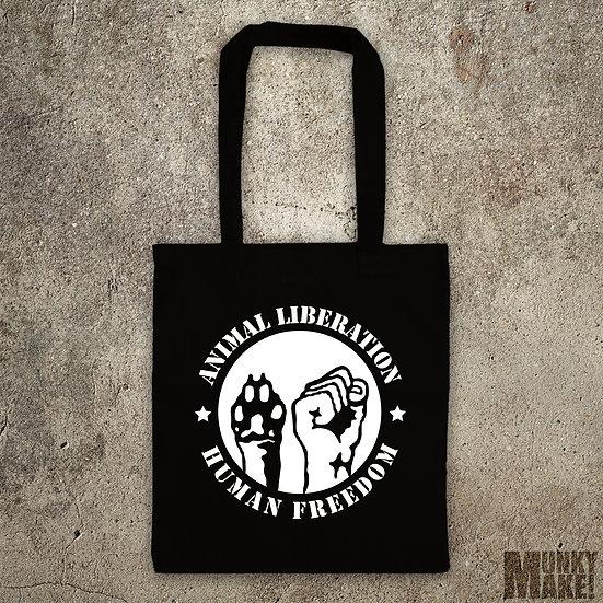 ANIMAL LIBERATION - HUMAN FREEDOM - TOTE BAG