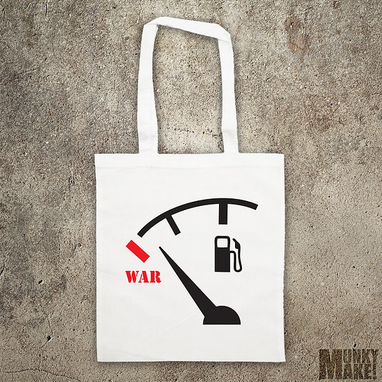 NO WAR FOR OIL - TOTE BAG