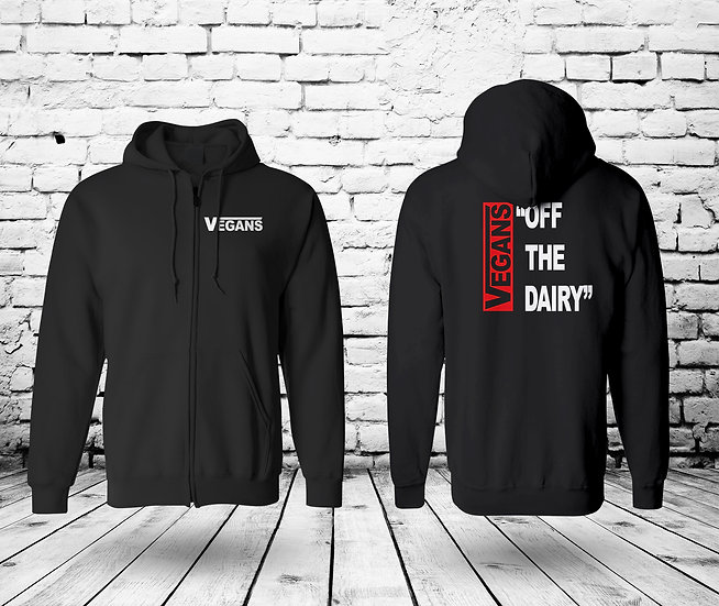 VEGANS Off The Dairy - UNISEX ZIP HOODIE