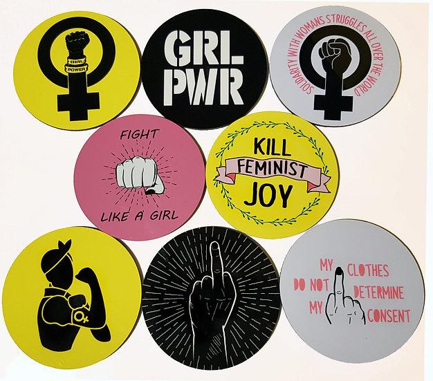 FEMINIST - drinks coasters