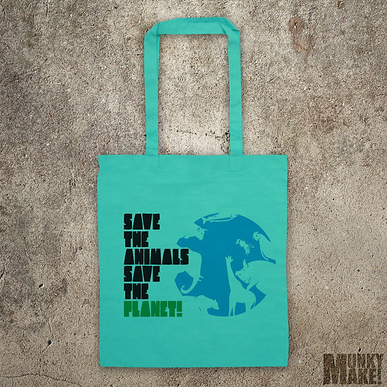 Save The Animals Save The Planet - TOTE BAG
