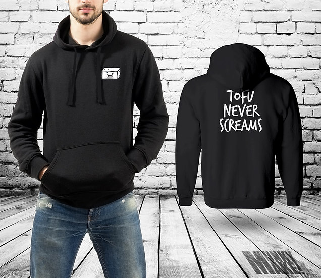 TOFU NEVER SCREAMS - UNISEX HOODIE