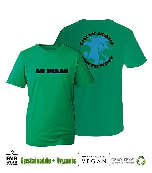 Go Vegan - Save The Animals Save The Planet - UNISEX