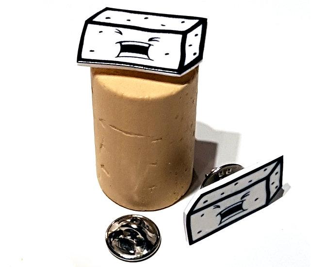 TOFU BLOCK  - HANDMADE PIN
