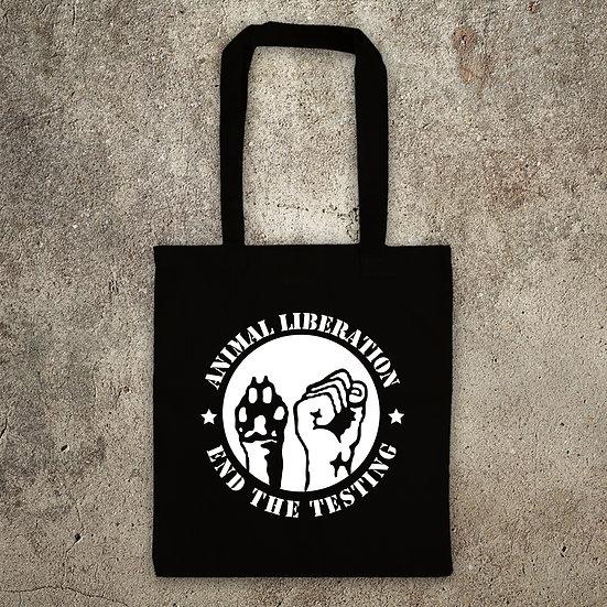 Animal Liberation Stop The Testing - TOTE BAG