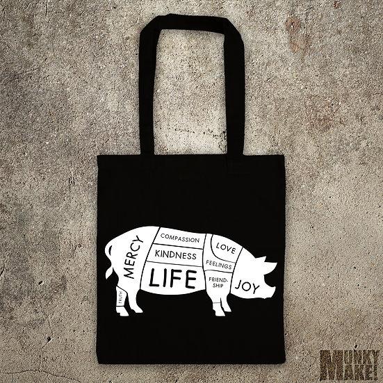 HAPPY VEGAN PIG - TOTE BAG