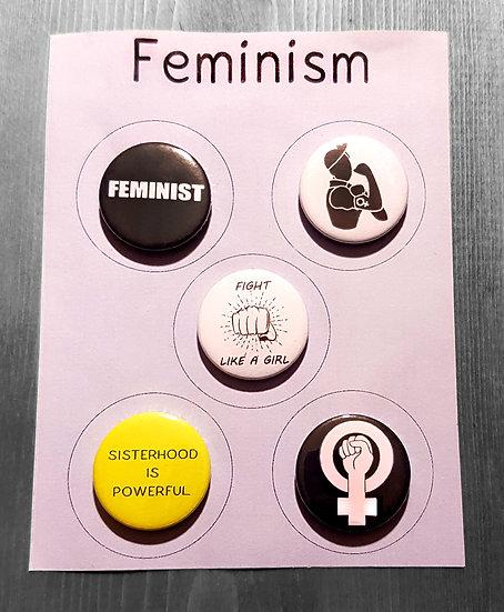FEMINISM - set of 5