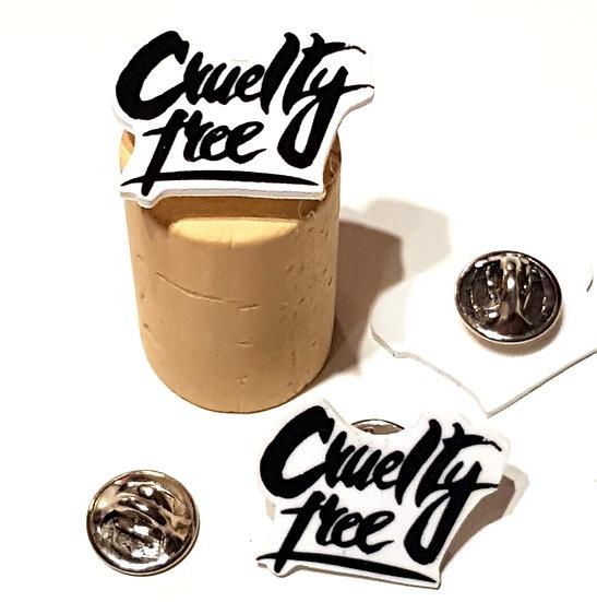 CRUELTY FREE  - HANDMADE PIN