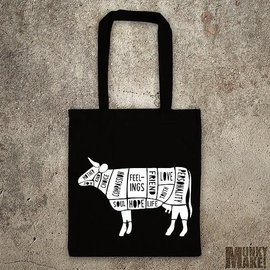 HAPPY VEGAN COW - TOTE BAG