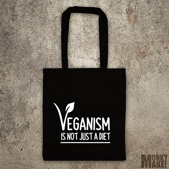 VEGANISM IS NOT A DIET - TOTE BAG
