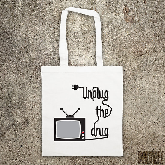 UNPLUG THE DRUG - TOTE BAG