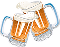 Beer in Mugs Cheering