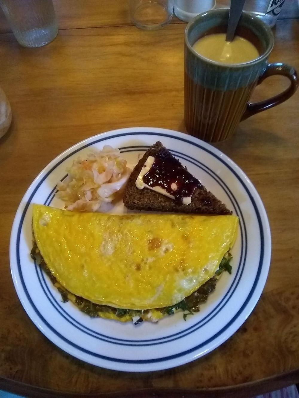 a really fancy omelet.