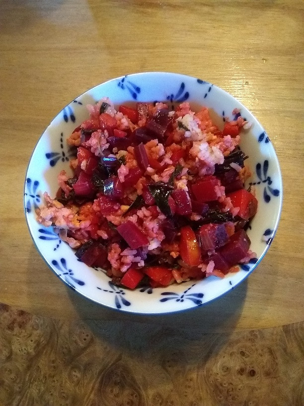 beet fried rice