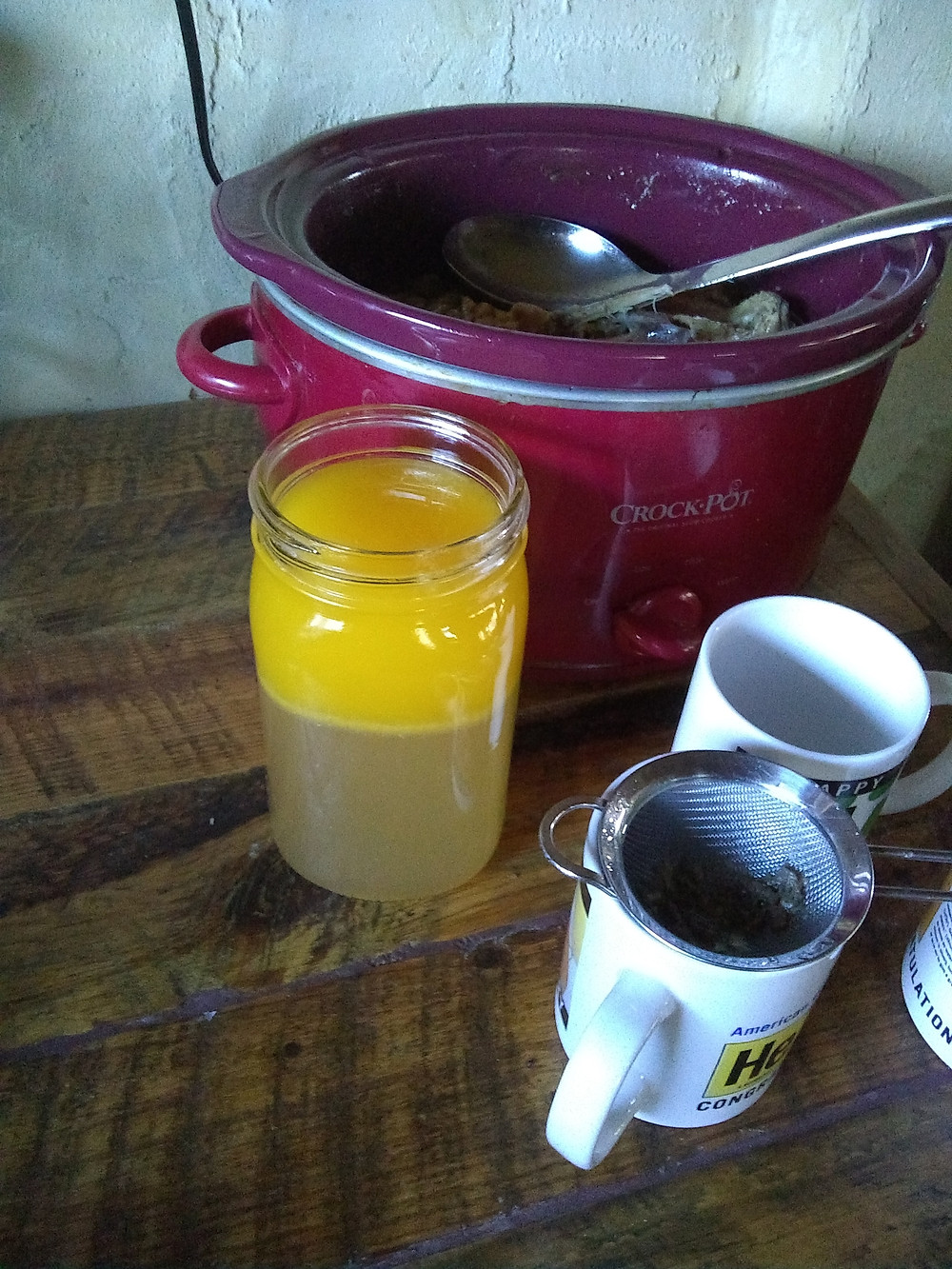 Making bone broth out of home-raised meat