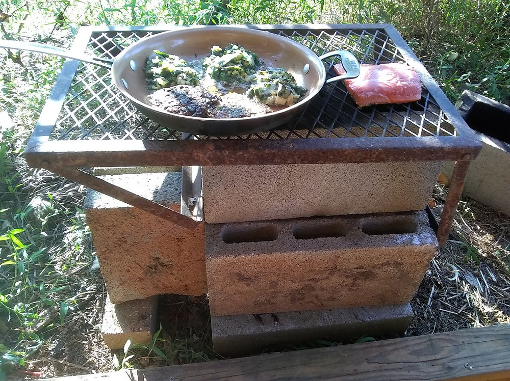 cinder block rocket stove