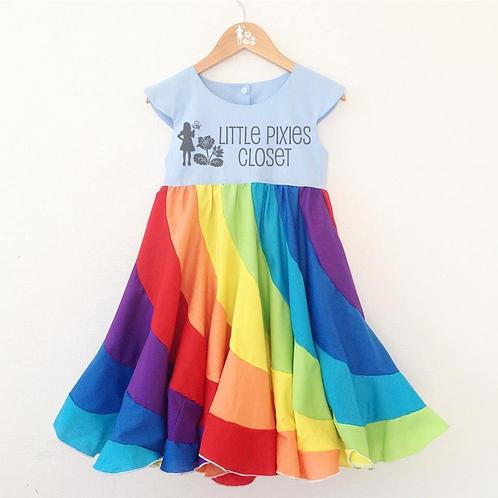 Pixie Swirl dress - Rainbow