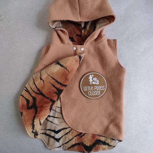 Reversible Pixie Vest - Tiger
