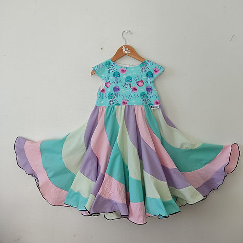Swirl Dress - Jelly fish