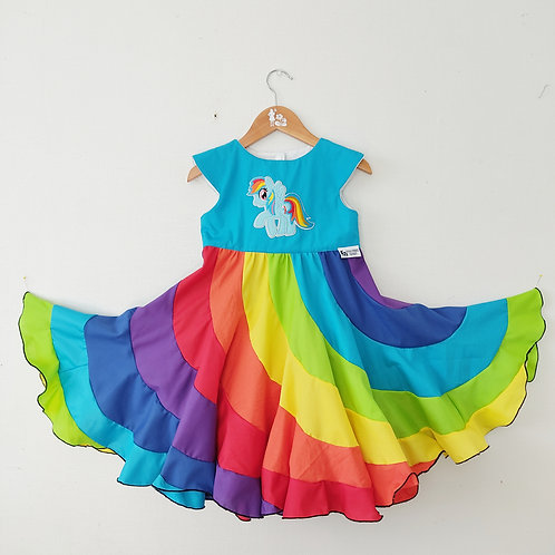 Swirl Dress - Rainbow Dash