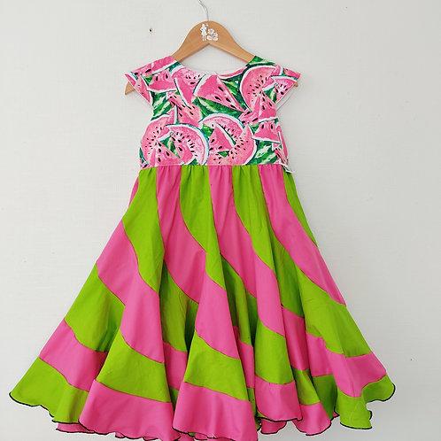 Swirl Dress - Watermelon