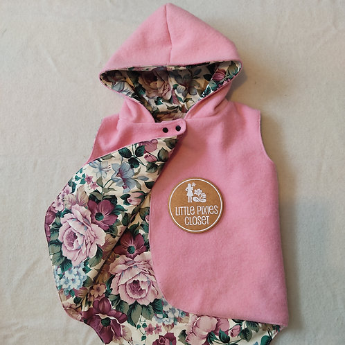 Reversible Pixie Vest - pink