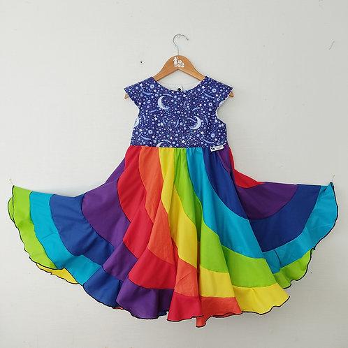 Swirl Dress - Rainbow Galaxy