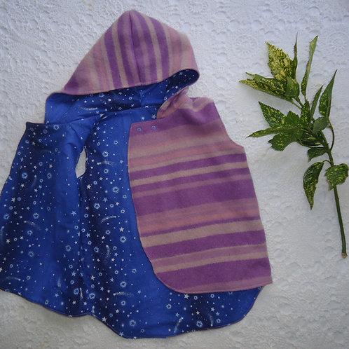 Reversible Pixie Vest - Purple