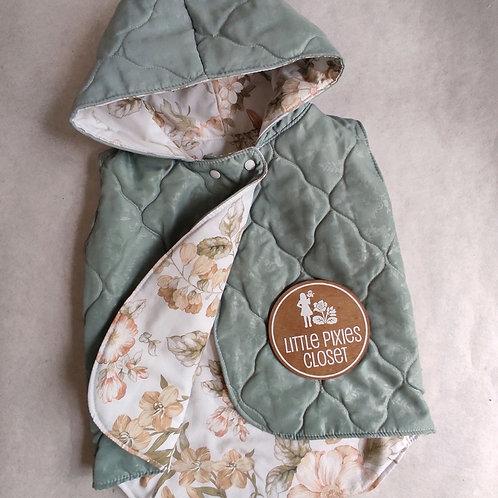 Reversible Pixie Vest - Aqua non wool