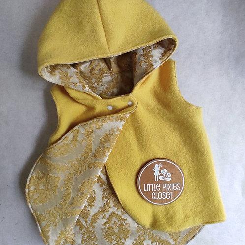Reversible Pixie Vest - Yellow