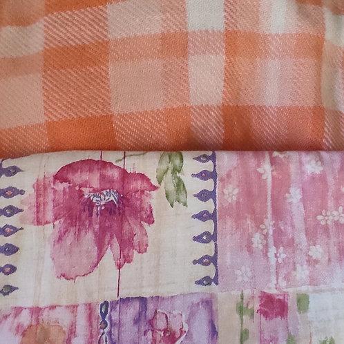 Dutchess Coat - Peach Check Floral