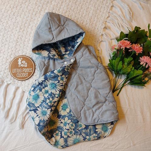 Reversible Pixie Vest - Sky Blue