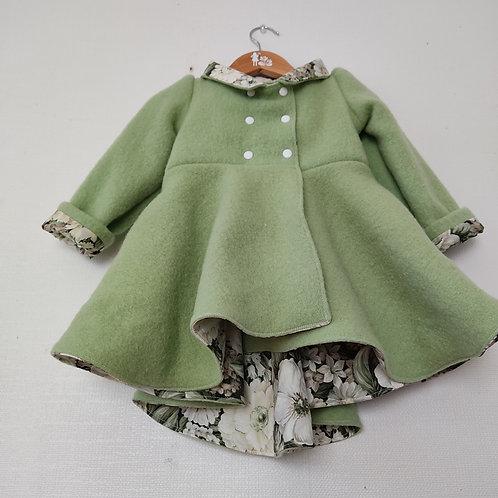 Dutchess Coat - Forest Green Floral