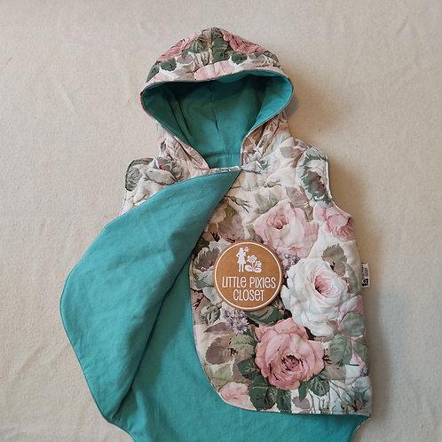Reversible Pixie Vest - floral