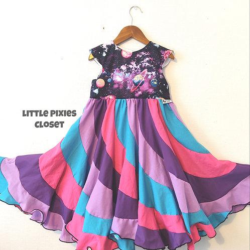Swirl Dress - Galaxy