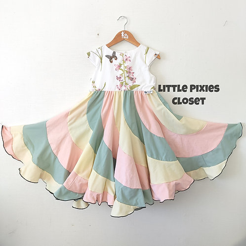Swirl Dress - Pastel floral