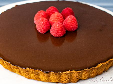 Sourdough Chocolate Glazed Tart